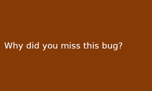 why_did_you_miss_this_bug